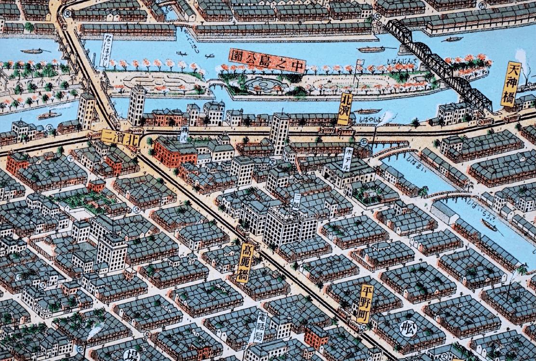 大阪市パノラマ地図 class=